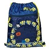Minions 2 The Rise of Gru - Bolsa de deporte, bolsa para zapatos, bolsa de deporte con compartimento extra con cremallera, 40 x 32 cm
