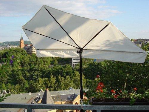 NEU - SONNENSCHIRM - STABIELO - BALKON - Stuhl-Sonnenschirm Holly'mat® - Fächerschirm NATUR - mit Holly ® 360 ° + 5 fach RADIUS verstellbare MULTIHALTERUNG (35 EUR) - Für Befestigungen an runden oder eckigen Elementen - bis zu einem Ø von 55 - 60 mm - als BALKON MULTIHALTER STGVC 5530 - INNOVATIONEN MADE in GERMANY - HOLLY PRODUKTE STABIELO ® -IT: holly fächerschirme video -