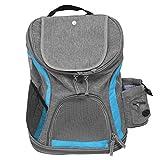 Bolsa de viaje para mascotas ecológica de lona fácil de usar Bolsa de transporte para mascotas, Transportín plegable para mascotas, Gatos para viajes al aire libre Uso Mascotas para(Blue+grey)