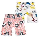 FLYISH DIRECT 2 Packs bébé Couche Jupe Couche Pantalon Pantalon d'entraînement pour l'apprentissage de la propreté des Tout-Petits pour garçons et Filles Rose 4ans-8ans
