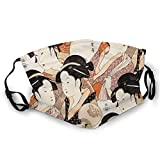 Maschere di sicurezza, giapponesi Geishas Sisters Of The Temple riutilizzabili sciarpa viso regolabile antivento antipolvere passamontagna stampa fronte-retro copertina per protezione