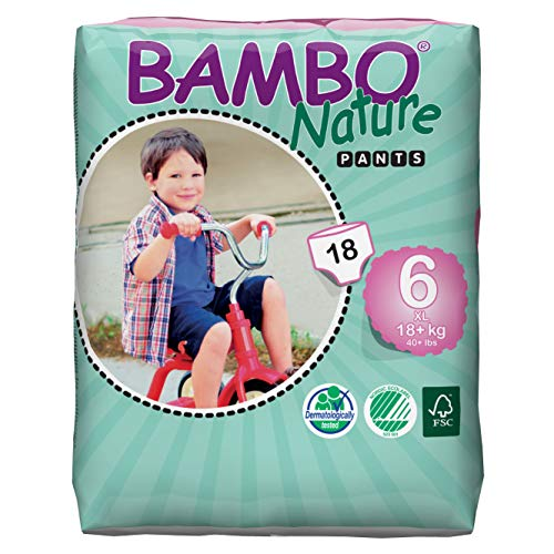 Bambo Nature Eco Friendly Baby Training Pants Classic for Sensitive Skin, Size 6...