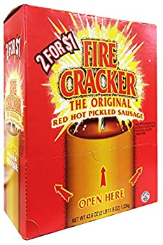 Penrose Fire Cracker Original Red Hot Pickled Sausage - Mouthwatering Flavor Ready to Eat - Box of 50 Sachet
