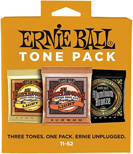 Ernie Ball Light Tone Pack (11-52) Acoustic Guitar Strings (P03314)