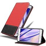 Cadorabo Funda Libro para Samsung Galaxy J5 2016 en Rojo Negro - Cubierta Proteccíon con Cierre Magnético, Tarjetero y Función de Suporte - Etui Case Cover Carcasa