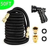 AORO Expandable Quick Connector Garden Hose, 50ft Flexible Expanding Hose with Natural Triple Layer...