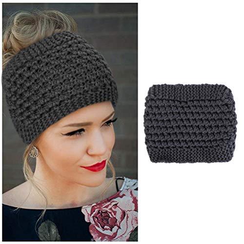 Naponior 1 Stück Winter gestrickte Stirnbänder Ohrwärmer Turban Haarbänder Elastische Häkelhaarwickel mit optionaler Farbe Schön für Frauen Mädchen