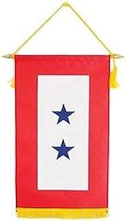 Family Member Military Service Banner - 2 BLUE STARS