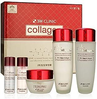 3W Clinic Collagen Skin Care 3 Set : Softener(150ml),Emulsion(150ml),Cream(60ml),Softener(30ml),Emulsion(30ml)