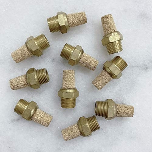 1//2 Male Thread Hex Sintered Silencer Air Line Fitting Beduan Pneumatic Brass Exhaust Muffler Filter