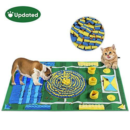 YOUTHINK Schnüffelteppich für Hunde, Schnüffelrasen Groß Riechen Trainieren Matte Fördert Natürliche Nahrungssuche für Haustier, Hunde Intelligenzspielzeug Futtermatte Trainingsmatte,100 * 66cm