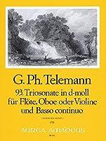 TELEMANN - Trio Sonata en Re menor (TWV:42/d 4) para Flauta, Oboe y BC (Partitura/Partes)
