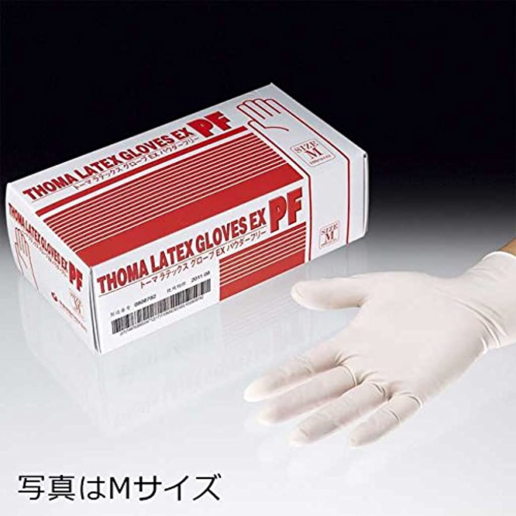 好き不測の事態一族トーマラテックス手袋EX PF 天然ゴム 使い捨て手袋 粉なし2000枚 (100枚入り20箱) (SS)