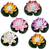 Ghongrm 4pcs LED Lotus Light Flowing Flowing Night Lanternns para Decoraion (18 cm, Color al Azar) (Size : S)