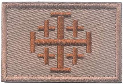 Jerusalem Crusader Templar Cross Tactical Morale Combat Badge Emblem Army Patch