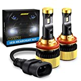 H11 H8 H9 LED Headlight Bulbs CREE-Chips MINI Size 12,000Lm 6000k AUHDER All-in-One Super Bright Conversion Kit White Pack of 2