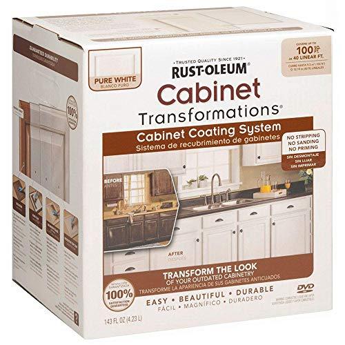 Rust-Oleum 298060 Transformations Cabinet Refinishing Kit, Pure White
