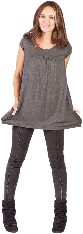 Savi Mom Maternity & Nursing Pocket TShirt Top with Easy Breastfeeding Openings