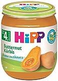 Hipp Bio Gemüse Reiner Butternut-Kürbis, 6er Pack (6 x 125 g)