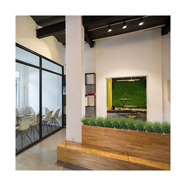 Hierba Verde de Trigo Artificial (6 Piezas) – 37cm Planta Artificial – Plantas Falsas Plástico Arbusto, Helecho, Follaje…