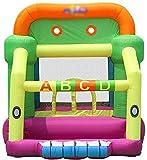 Miwaimao Kinder Hüpfburg aufblasbares Trampolin Innenfamilienpool Spielzeug für kleine Kinder Kissen aufblasbare Puppe (137 * 88,5 * 86,6 Zoll),Grün,225 * 350 * 220 cm