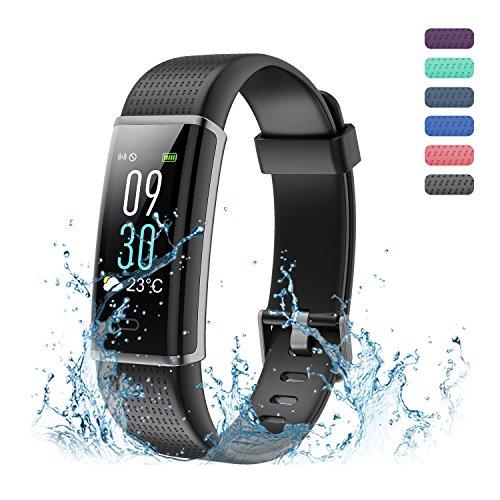 Amytech I5 Plus Pulsera de Fitness Sleep Monitor Pedometer Monitores de Actividad Wirstband,Color Púrpura