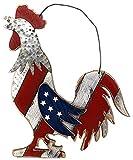 Large Rooster Patriotic American Farmhouse Country Door Wreath Kitchen Garden Indoor Outdoor Decor 15' x 12'