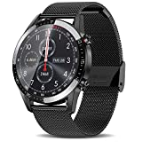 AERFA Smart Watch for Android iOS Phones (Receive/Make Calls,46mm,Bluetooth) Smart Watches with Heart Rate Step Sleep Tracker,App Message Reminder,Music Control,IP68 Waterproof SmartWatch for Men