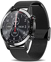 Smart Watches for Android iOS Phones (Receive/Make Calls,46mm,Bluetooth) Smart Watches with Step Sleep Tracker,App Message Reminder,Music Control,IP68 Waterproof SmartWatch for Men