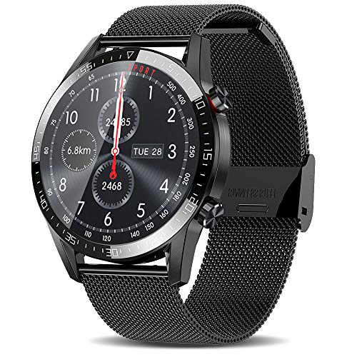 Smart Watch for Android Phones (Receive/Make Call,46mm,Bluetooth) Smart Watches with Heart Rate Step Sleep Tracker,App Message Reminder,Music Control,IP68 Waterproof SmartWatch for Men