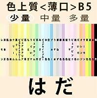 色上質(少量)B5<薄口>[肌](100枚)