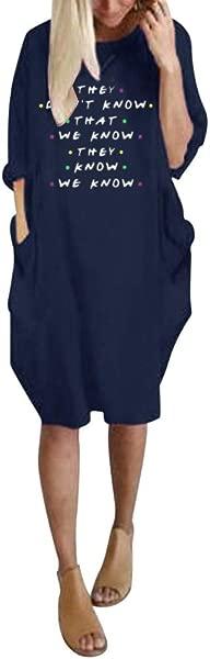 女装优雅套头衫女士超大号迷你连衣裙宽松长袖口袋连衣裙海军 L