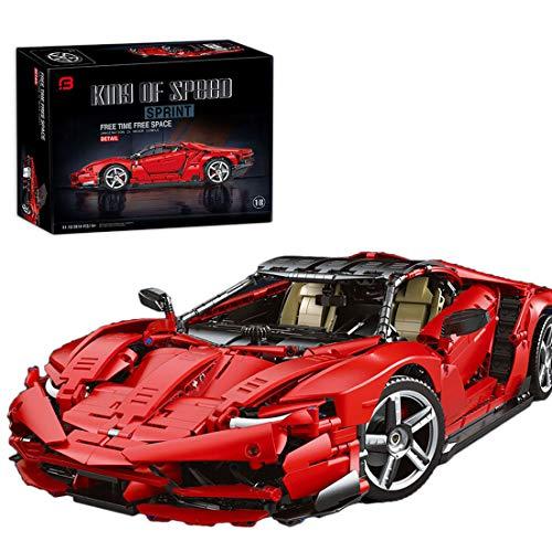 xSuper Technic Racing Car 911 RSR ladrillos de bloque de construcción 3874+Pcs Coleccionable Supercar Display Modelo estático Rojo - Compatible con Lego