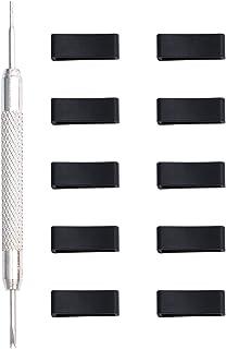 Hemobllo 11 pezzi sicuro anelli di ricambio silicone chiusura anello cinturino orologio Band Loops Watch Accessori con oro...