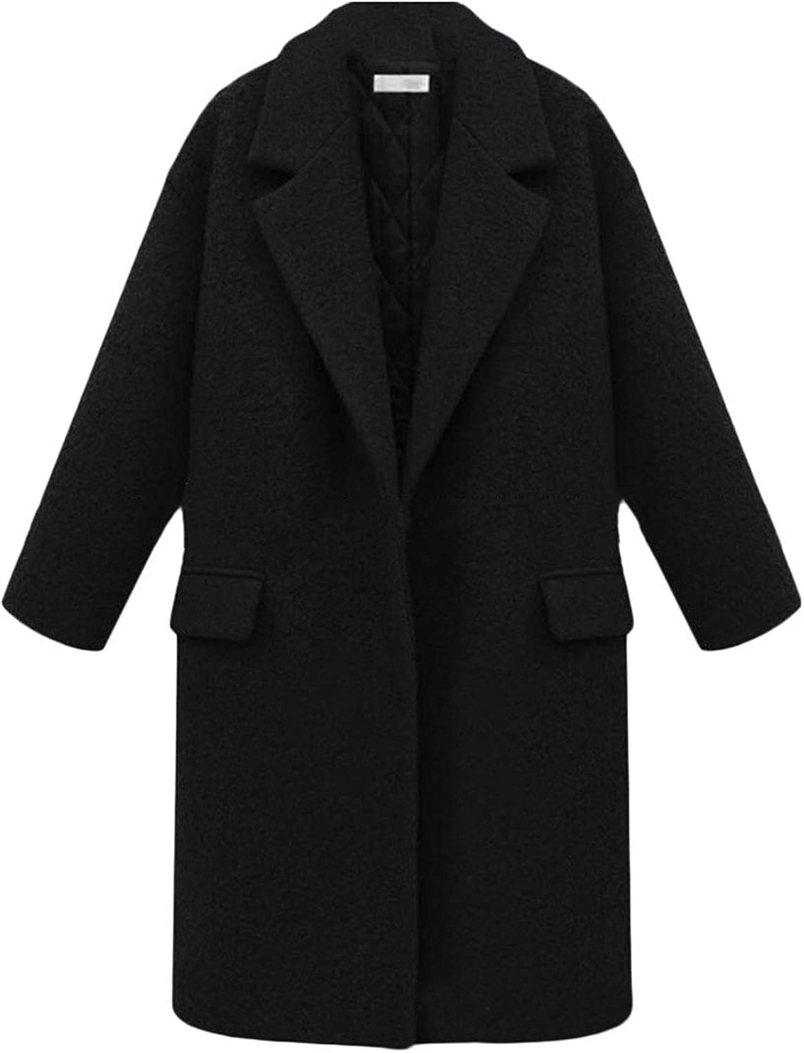 Esast Womens Outwear Overcoat Trench Coat Winter Open Front Peacoat