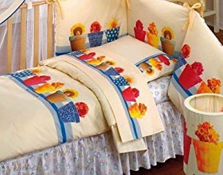 6899988381 Trapunta + Paracolpi Flower Pots Annes Geddes - Coordinato Anne Geddes  Lettino