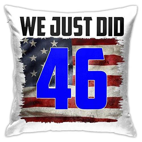 YUFA we just did 46 Pillow Covers Cushion Cover Cases Pillowcases Sofa Couch Bed Home Decor 18'X 18'Inch (45 X 45cm)