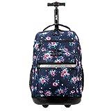 J World New York Sundance Laptop Rolling Backpack, Vintage Rose, 19'