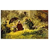 JUNIWORDS Poster, Franz Carl Spitzweg, Der Maler im Garten,