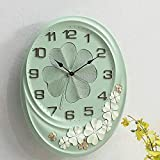 Miwaimao Reloj de Pared Estilo De Salón Reloj De Pared De Silencio Creativo Reloj De Mesa Retro Decoración De La Mesa Colgante De Cuarzo Pared del Jardín De América Europea (28 * 32.5cm)