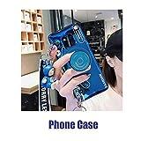 AZXIAOY Handyhüllen Cases,IMD Blu-ray Atmungsaktiv Stilvoll Weich Handyhüllen Cases Mit Schlüsselband Unterstützung Kleine Puppe Für Iphone6S/6splus/8/7p/X,Blue-iphoneXR