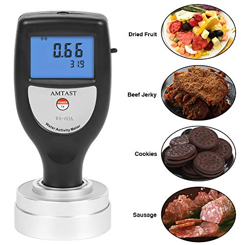 AMTAST Water Activity Meter Smart Food Water Activity Tester for Food Jerky Dried Fruit Grain Vegetable AW Monitor