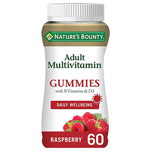 Nature's Bounty Adult Multivitamin Gummies with B vitamins and D3 - Pack of 60