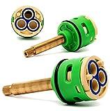 Rolli Cartuccia Rubinetto Мiscelatore Universale Ricambio Ceramica Valvola 3 Funzioni Ottone Cartuccia Rubinetto D 33mm L 40mm