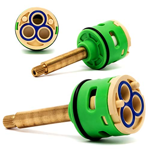 Rolli Cartucho Ducha Mezclador Monomando Universal Recambiable Ceramica Válvula 3 Posiciones Latón Desviador D 33mm L 40mm