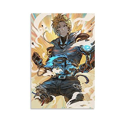 shanggan One Punch Man 88Poster Pintura decorativa Lienzo de pared Arte de Sala de estar Carteles Dormitorio Pintura 08 × 12 pulgadas (20 × 30 cm)
