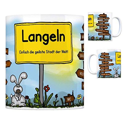 Langeln Harz - Einfach die geilste Stadt der Welt Kaffeebecher Tasse Kaffeetasse Becher mug Teetasse Büro Stadt-Tasse Städte-Kaffeetasse Lokalpatriotismus Spruch kw Goslar Salzgitter Wasserleben