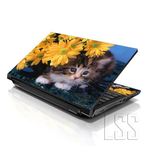 """LSS ordinateur portable 15 """"et 15,6"""" Motif Skin autocollant en vinyle Compatible 13,3, 14"""", 16 """"15,6"""" et HP, Dell, Apple Lenovo Asus, Acer, Compaq, (2–poignets inclus-de-chat"""