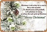 Cartel decorativo de metal con texto en inglés 'Christmas Is Not A Time Nor A Season But A State Of Mind', de 20,3 x 30,4 cm, aspecto vintage, para decoración de pared