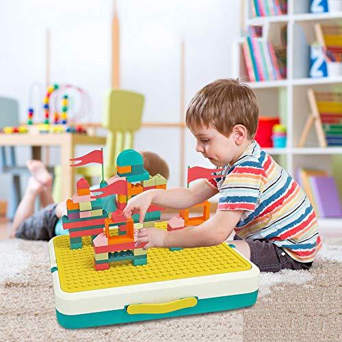 Houten activiteitentafel 5-in-1 Speltafel Gereedschapspeelgoed voor kinderen Leerspeelgoed voor jongens en meisjes Gereedschapskist Speelgoedspeelset, compleet met blokken, puzzels, vliegschaak en tekentafel